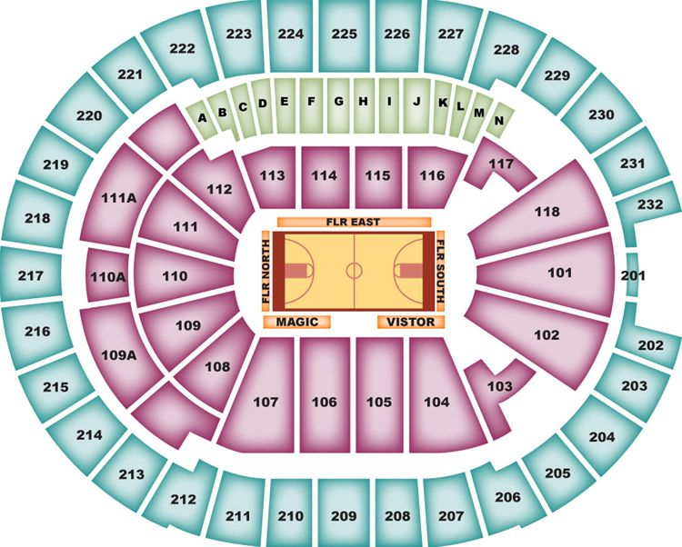 Orlando Magic Seating Chart for Amway Center